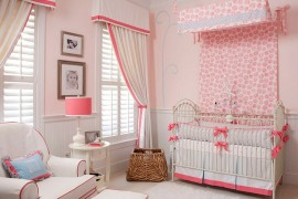 Window coverings add to the style of the nursery