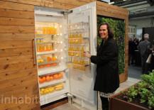 Wood Finish Miele Refrigerator