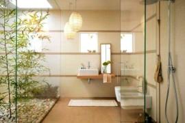 Zen Bamboo Bathroom offers a tranquil retreat  12 Creative Ways to Use Plants in The Bathroom Zen Bamboo Bathroom 270x180