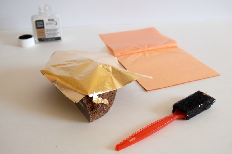 DIY Gold Foil Agate Bookend/Paperweight –  apply gold foil
