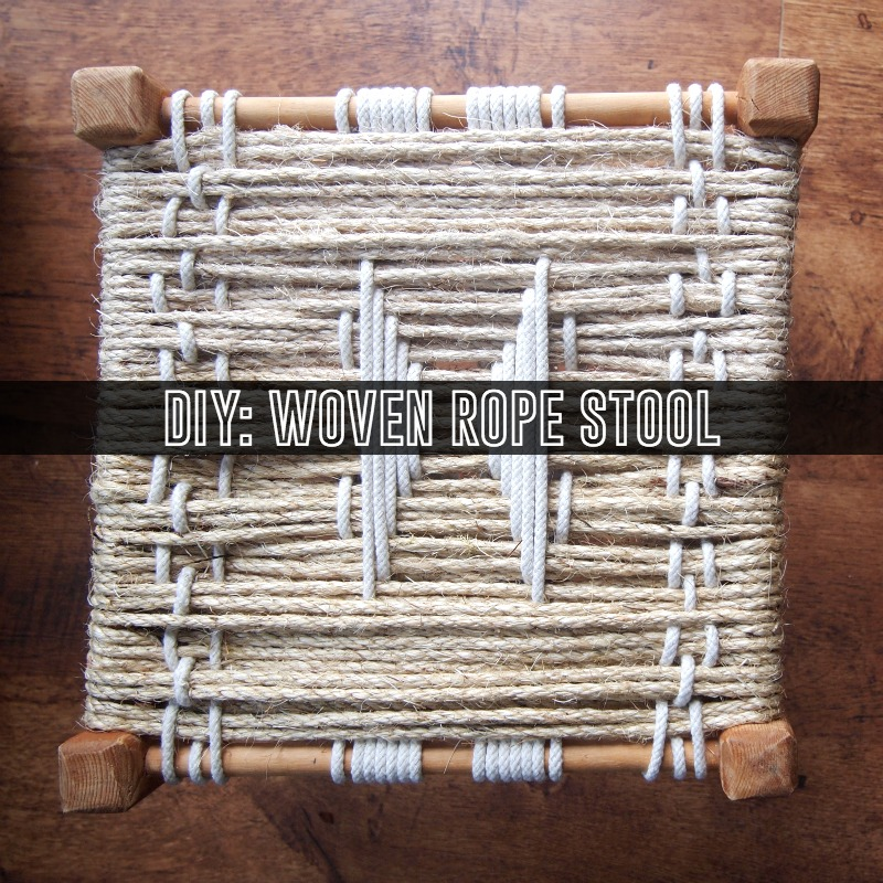diy woven rope stool 2 Easy DIY Woven Footstool