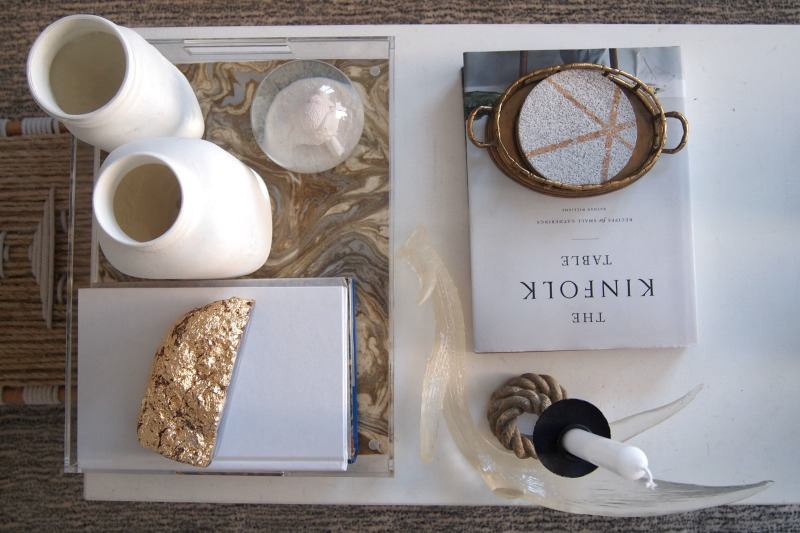 DIY Gold Foil Agate Bookend/Paperweight -  coffee table