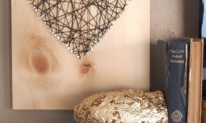 DIY Gold Foil Agate Bookend