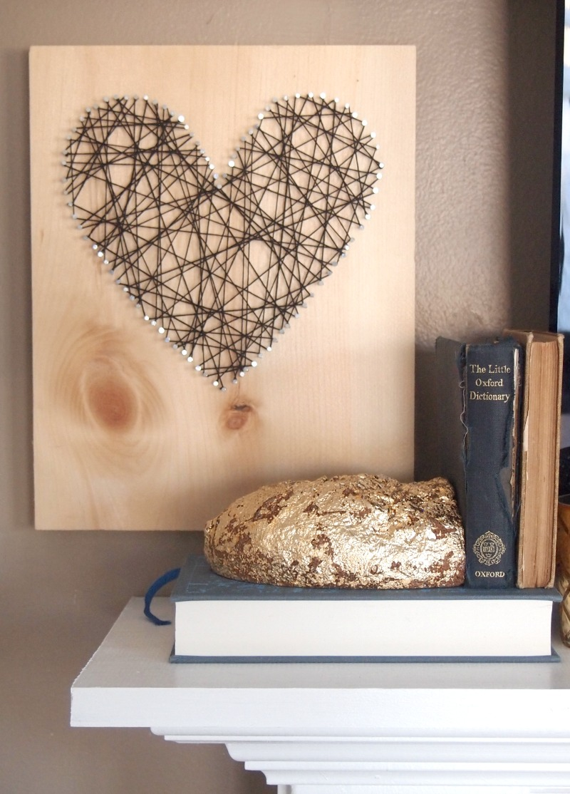 DIY Gold Foil Agate Bookend/Paperweight –  on mantle