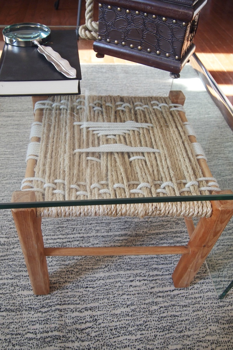 Easy diy woven rope footstool - Fabriquer une table basse originale ...