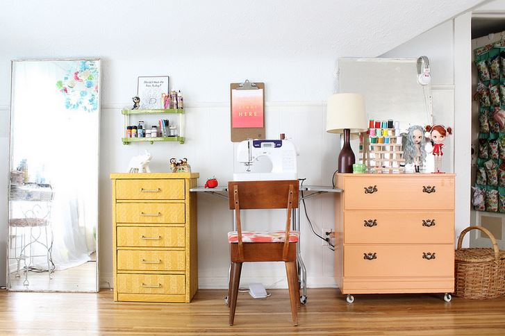 A sewing area makeover by Katie Shelton