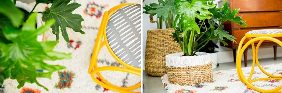A vintage footstool makeover by Brittni Mehlhoff (images by Sarahdipity Photos)