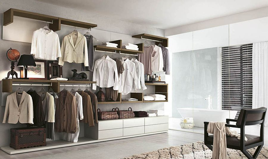 A walk-in closet design that oozes luxury