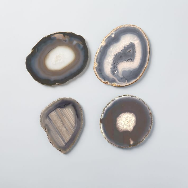 Agate coasters from West Elm