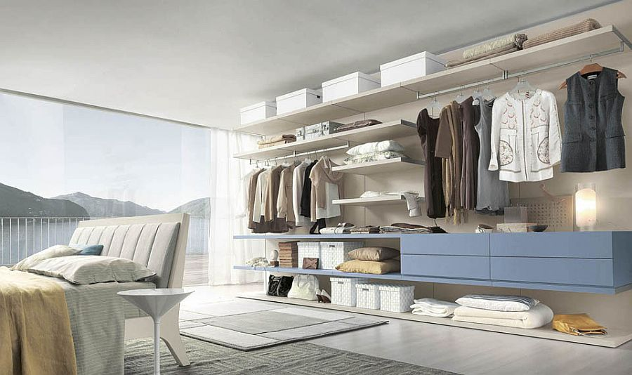 View In Gallery All You Need Is An Open Wall To Shape A Stunning Bedroom  Closet