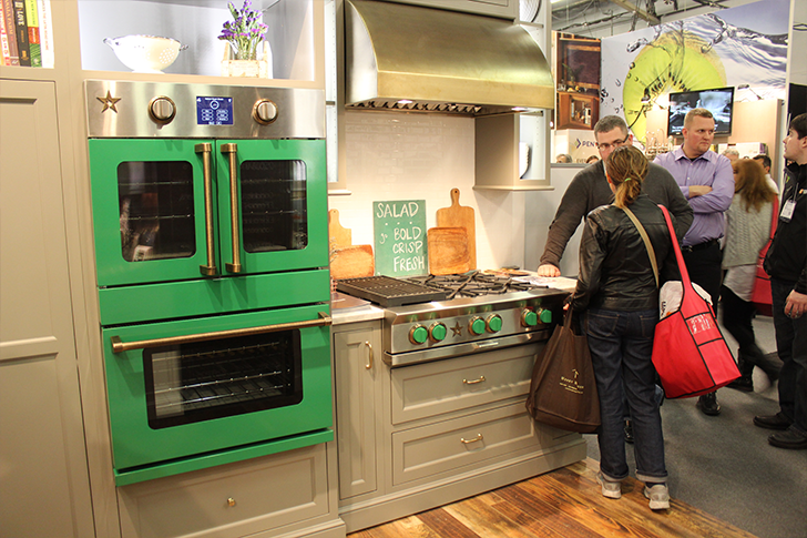 View In Gallery Architectural Digest Home Design Show 2015 Colorful Green  Kitchen