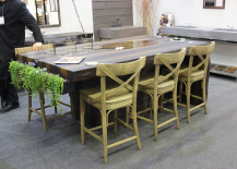 Architectural Digest Home Design Show 2015 Double Duty Table with Cutout