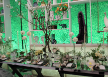 Architectural Digest Home Design Show 2015 Green Dining Display