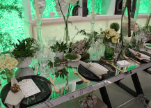 Architectural Digest Home Design Show 2015 Jung Lee Tablescape Green