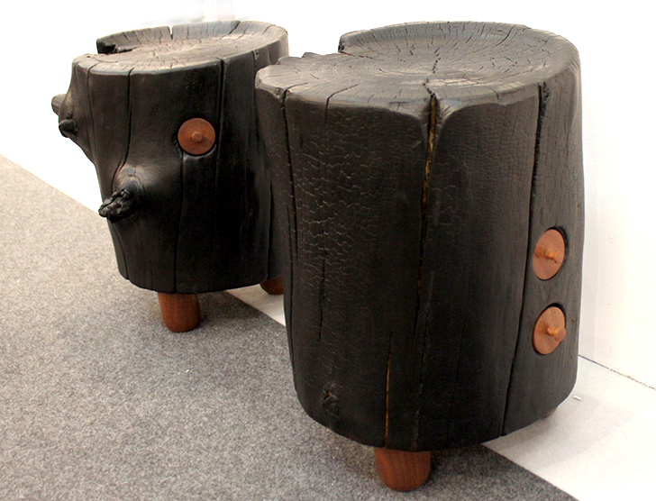 Architectural Digest Home Design Show 2015 Reclaimed Wood Stools