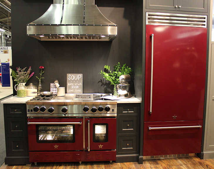 Architectural Digest Home Design Show 2015 Red Kitchen