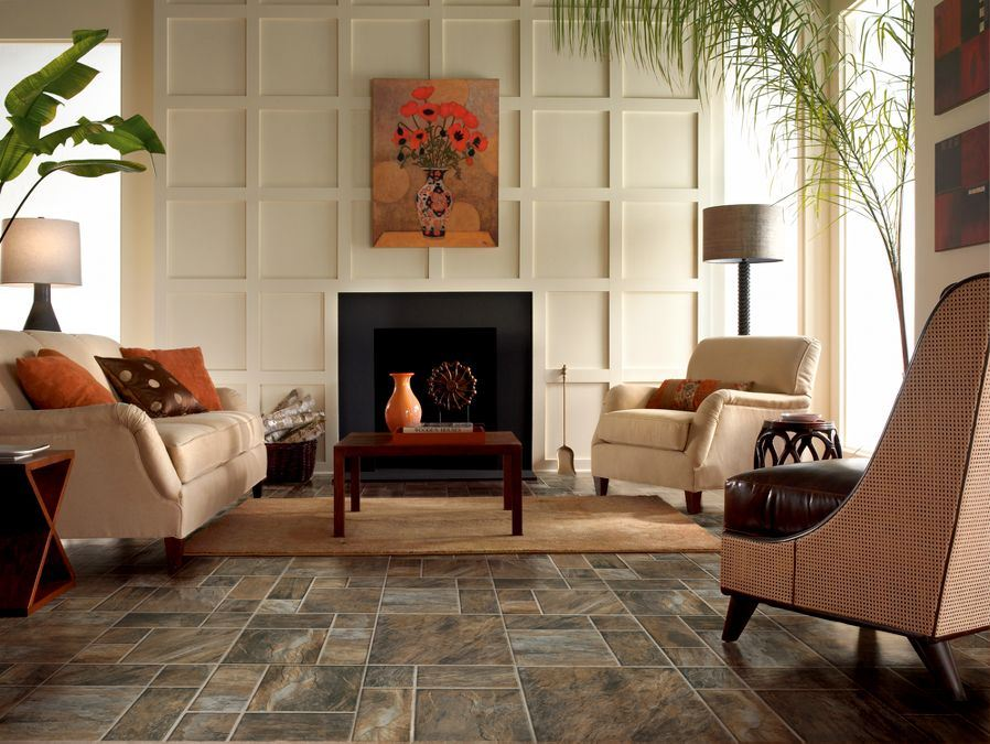 Armstrong flooring in Canyon Slate