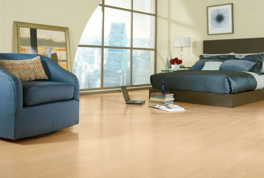 Armstrong laminate flooring in Canadian Maple