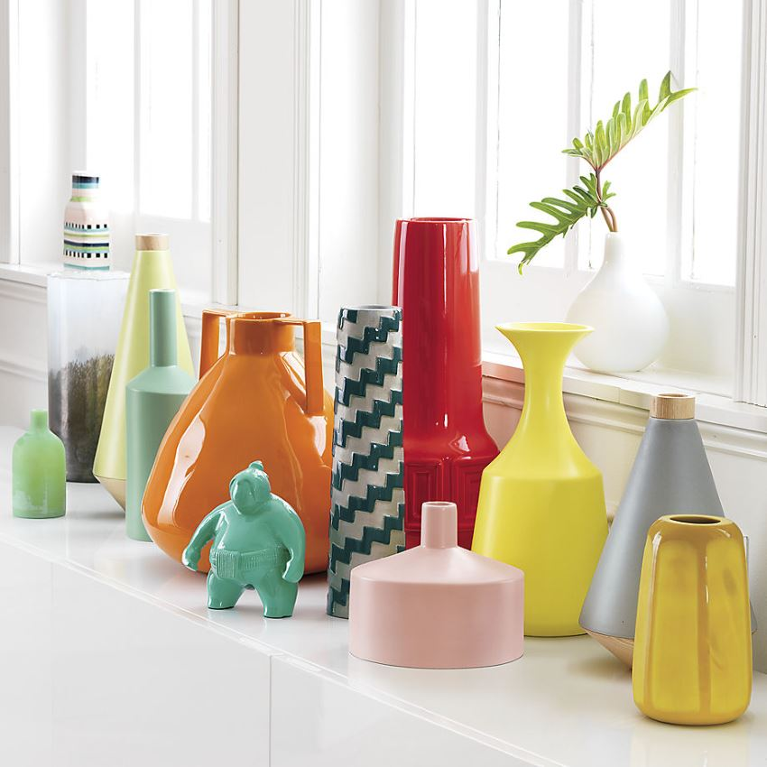Assortment of modern vases from CB2 20 Unforgettable Spring Vase Selections