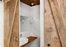 Barn style doors for the modern bath