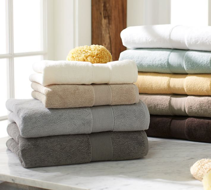 Bath towels from Pottery Barn