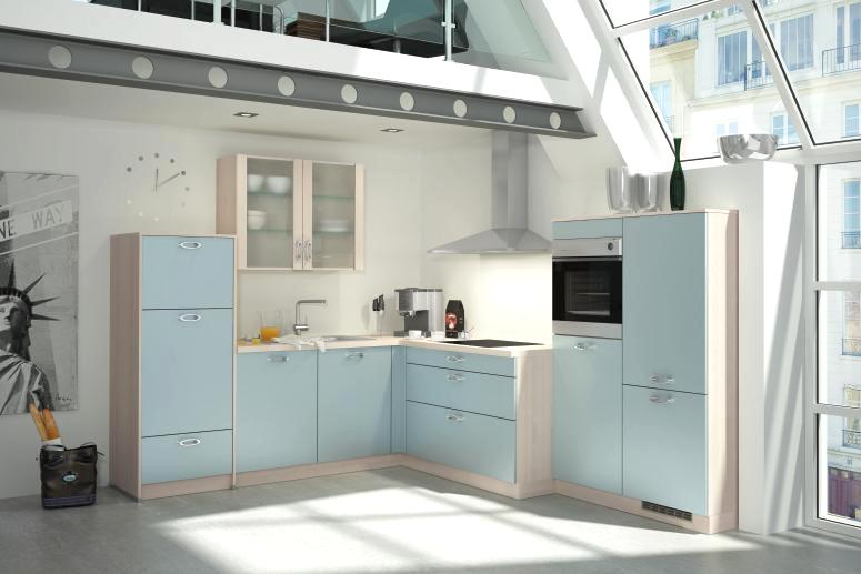 Bauformat Kitchen Cabinets in Light Blue
