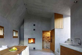 Historic Stone House In Switzerland Gets A Modern Minimalist