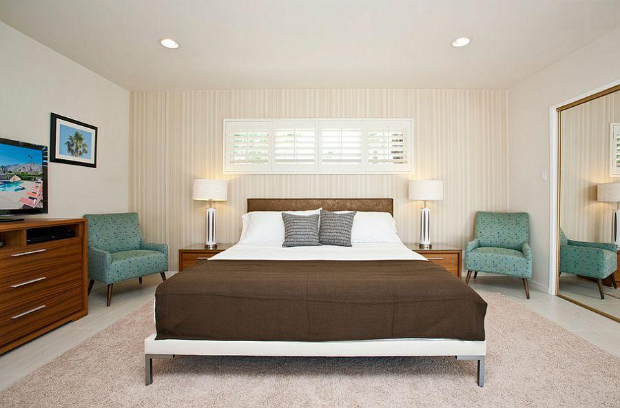 Bedroom accent walls adds pattern in an understated fashion [Design: Vastu DC]