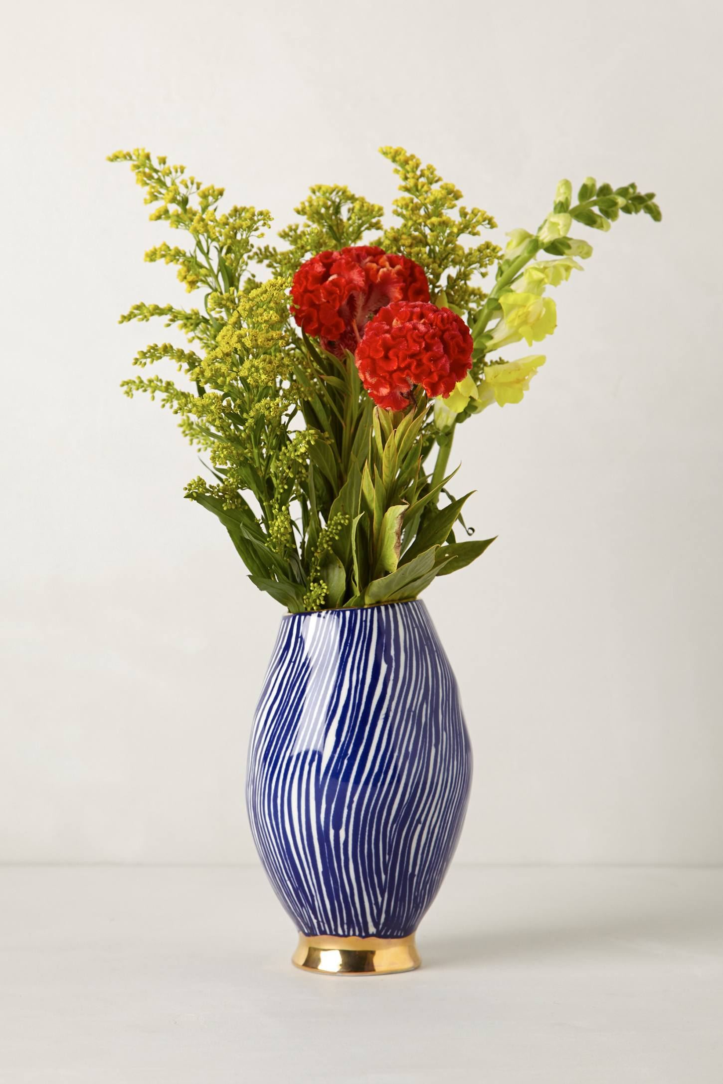 Blue and white vase from Anthropologie