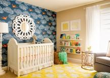 Blue nursery idea for the baby girl
