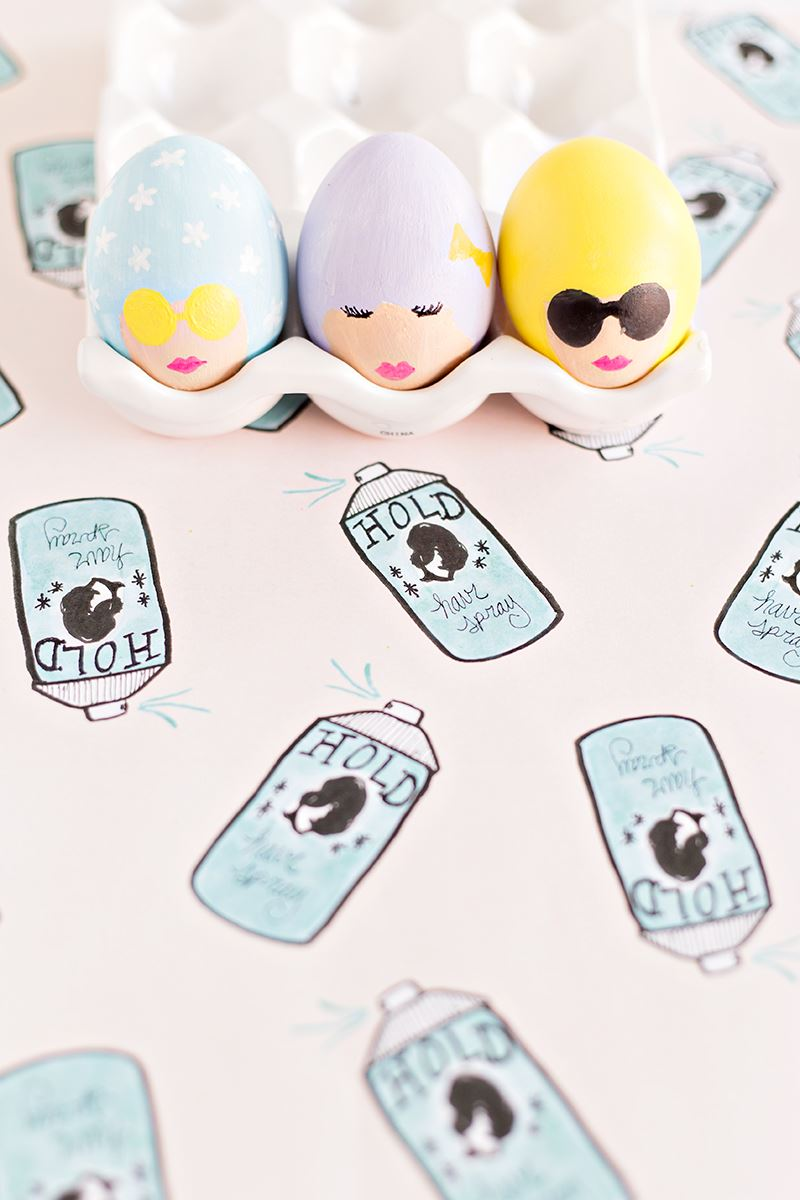 Bouffant Easter eggs from Studio DIY