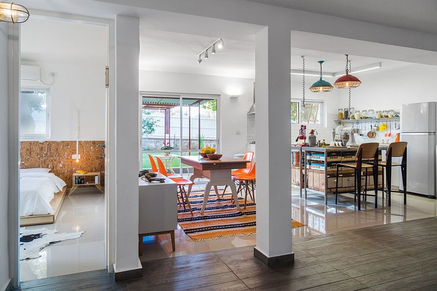 Bright colors give the interior a cheerful, modern look