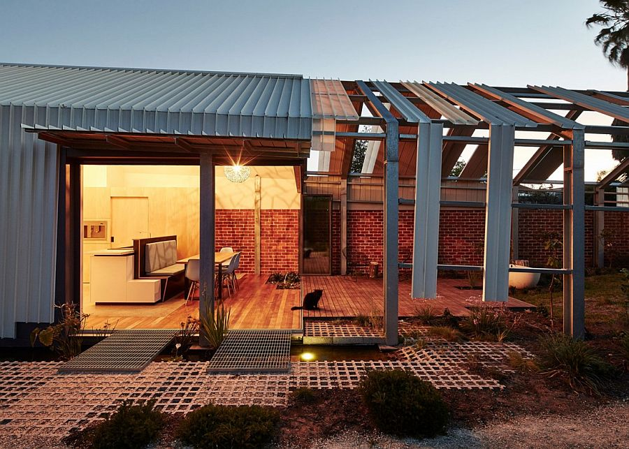 Brilliant Aussie home with an unfinished, inside-out look
