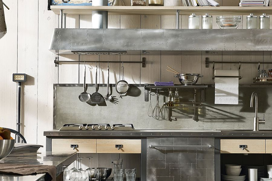 Carefully crafted cooktops and shelves crafted from steel