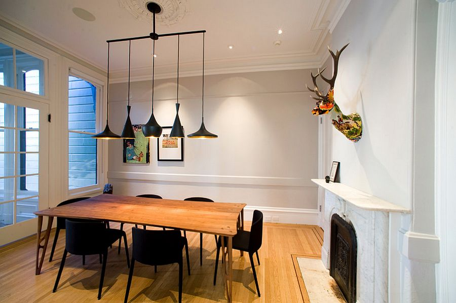 Chairs And Lighting Bring Black To The Dining Room With Innate Simplicity Design Todd
