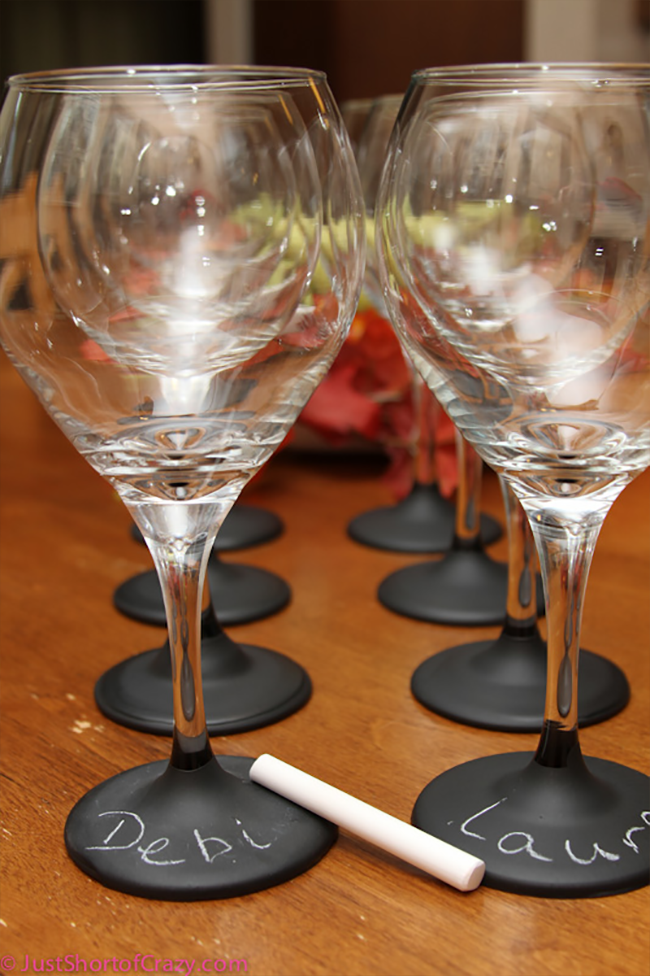 Chalkboard Dipped Wine Glasses