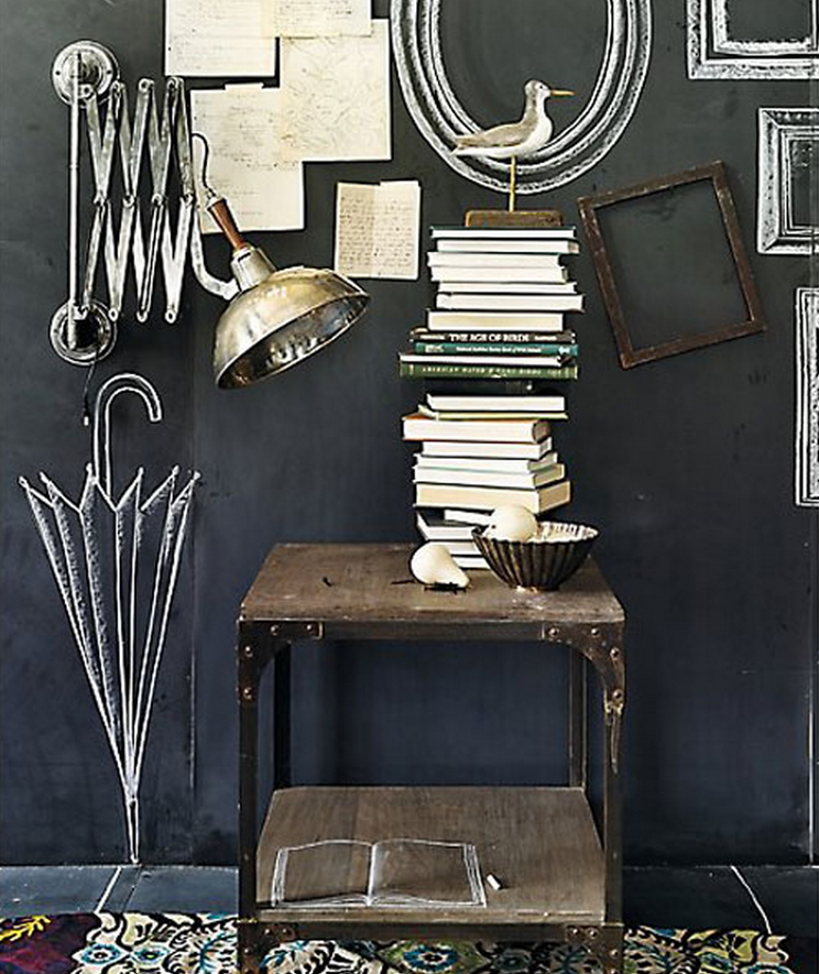 Chalkboard Picture Frames on Wall