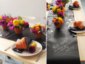 Chalkboard Table Setting