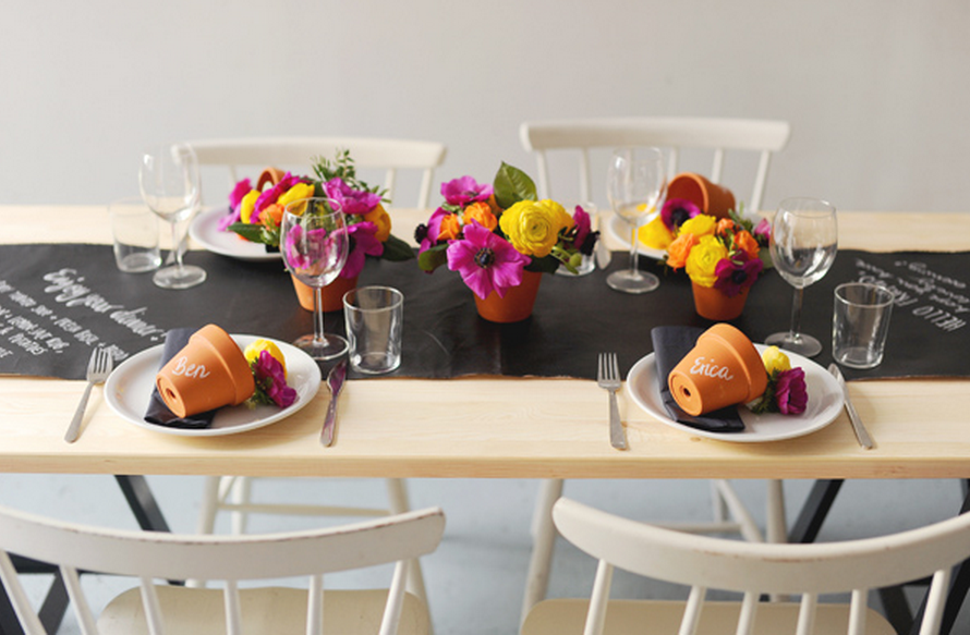 Chalkboard Table Setting DIY 8 Unique Ways to Incorporate Chalkboard Surfaces into Your Home