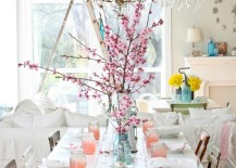 Cherry Blossom Brunch 217x155 Green and Gorgeous Garden Inspired Table Settings