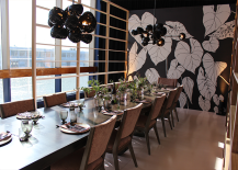Chic Black White and Neutral Tablescape