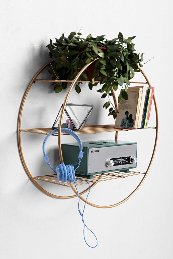 Circular shelf from Urban Outfitters Geo Terrariums, Crystals and Wall Hangings: Modern Boho Style