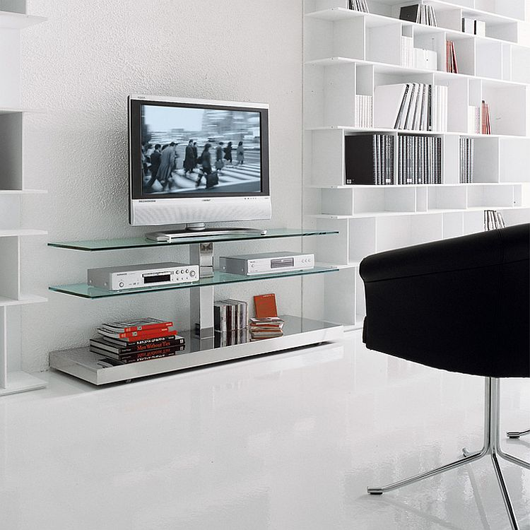 View In Gallery Classy And Understated TV Unit Is Ideal For Small  Contemporary Living Space