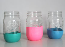 Colorful Balloon Mason Jars