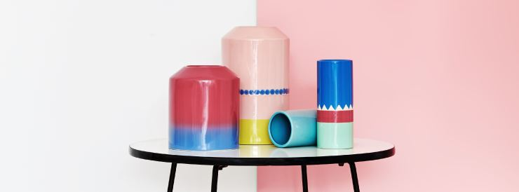 Colorful vases from Arro Home