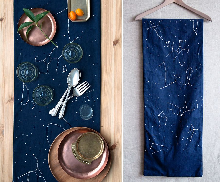 Constellation table runner from Design Sponge
