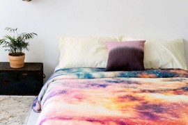 Under the Milky Way: Galaxy and Moon Phase Decor