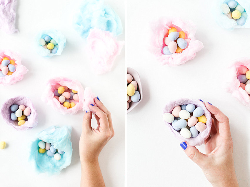 Cotton candy Easter nests from Paper & Stitch