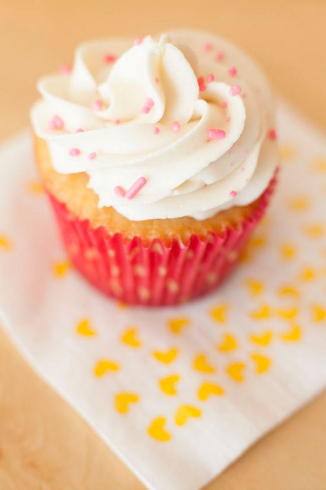 Cupcake with sprinkles from Miss Jones