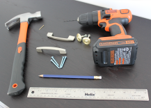 DIY Drawer Pull Installation Materials and Tools